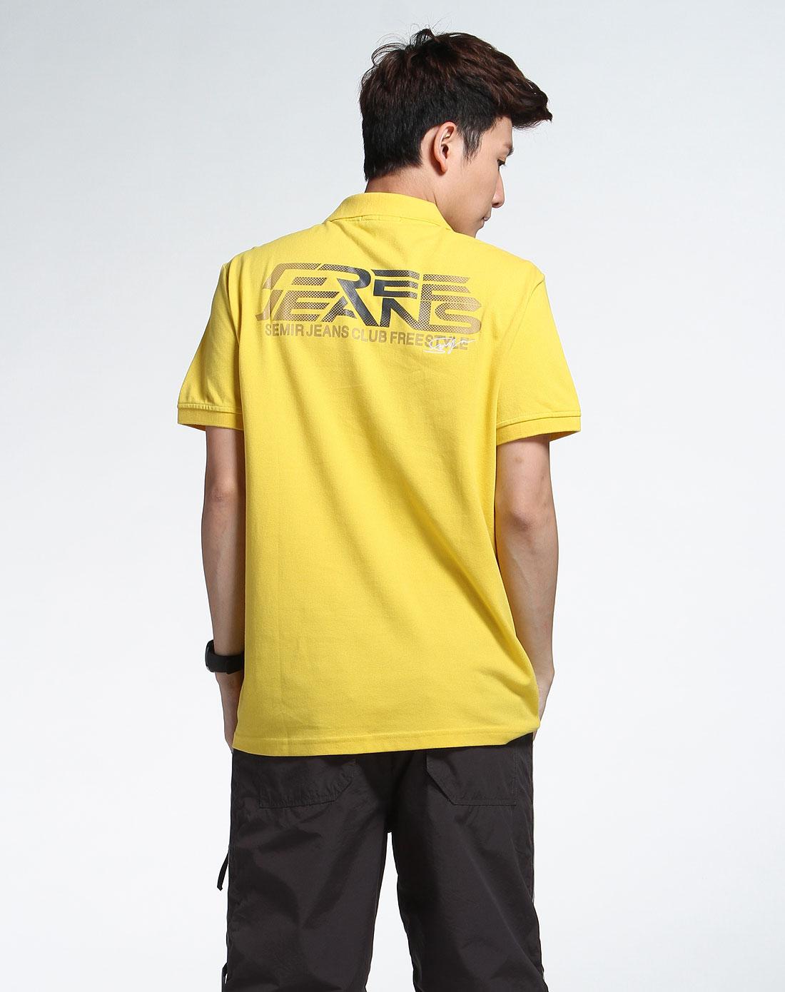 森马男装专场-黄色个性短袖t恤图片