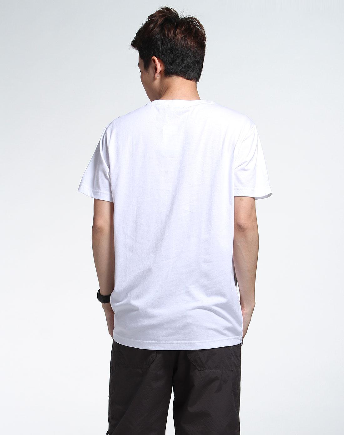 森马男装专场-白色短袖休闲t恤图片