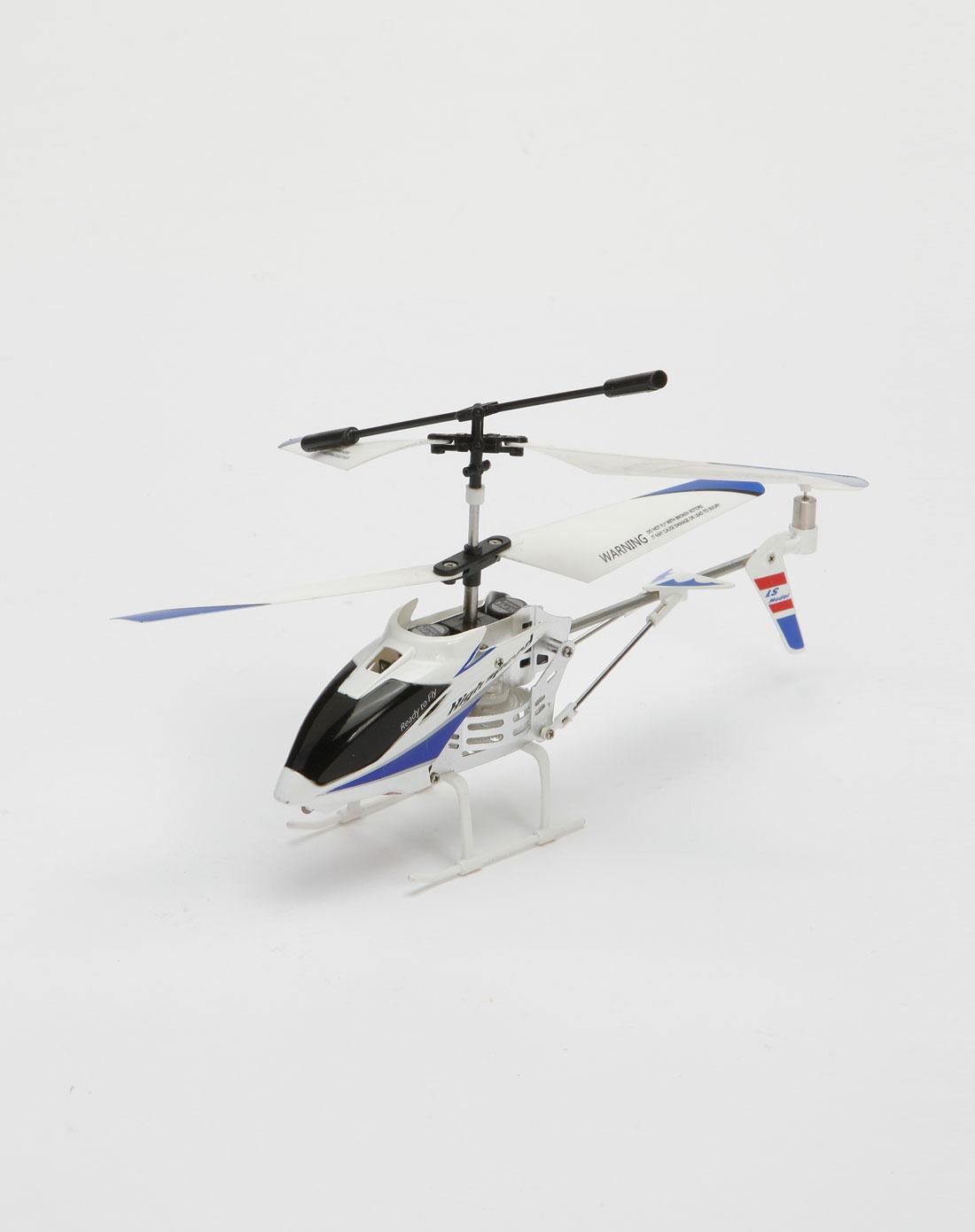 遥控玩具专场蓝/白/黑色合金遥控直升飞机16010091
