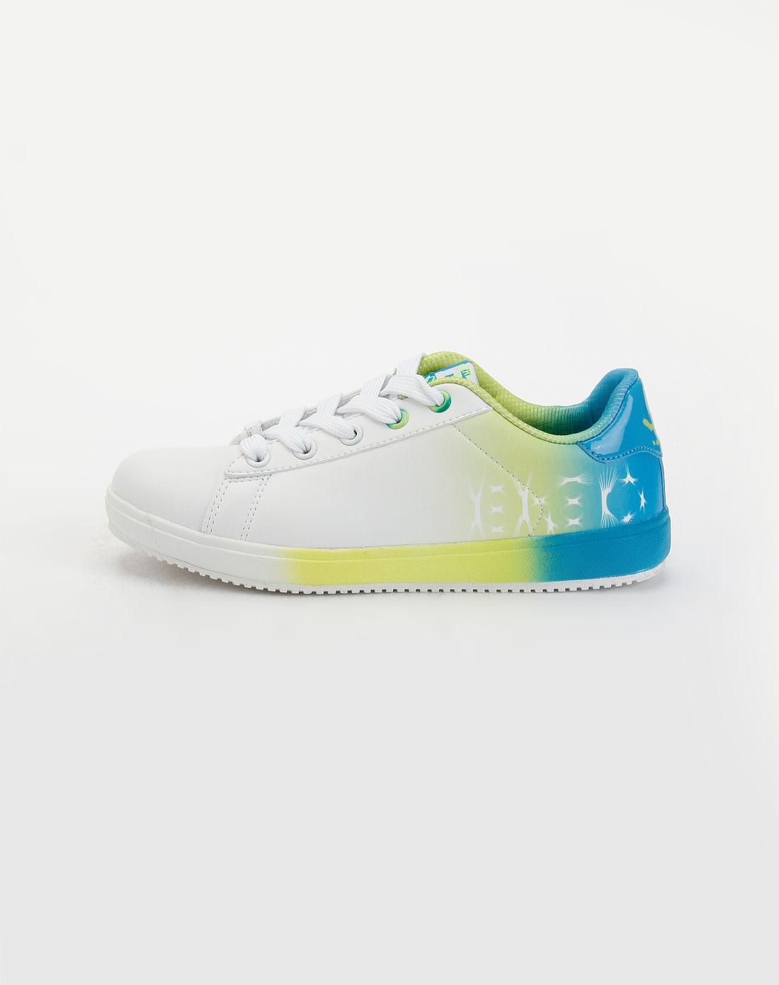 爱居兔eichitoo白/蓝/绿色时尚运动鞋axzj3b012031
