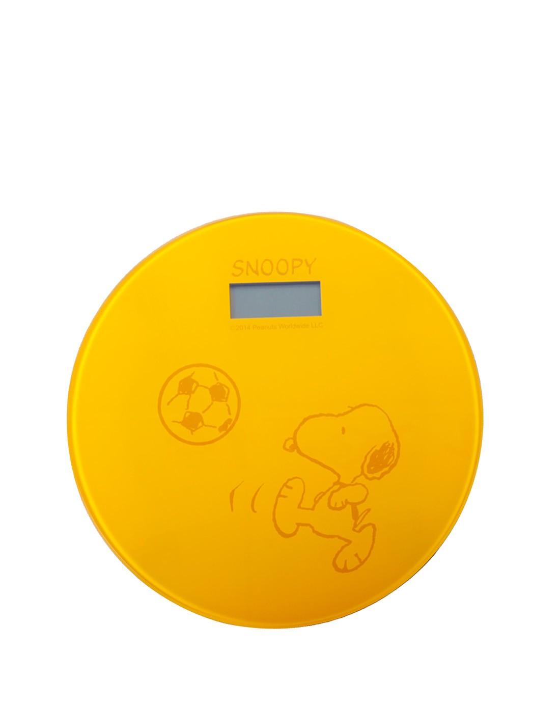 人体黄色电_史努比黄色33cm圆形人体秤 高端大气