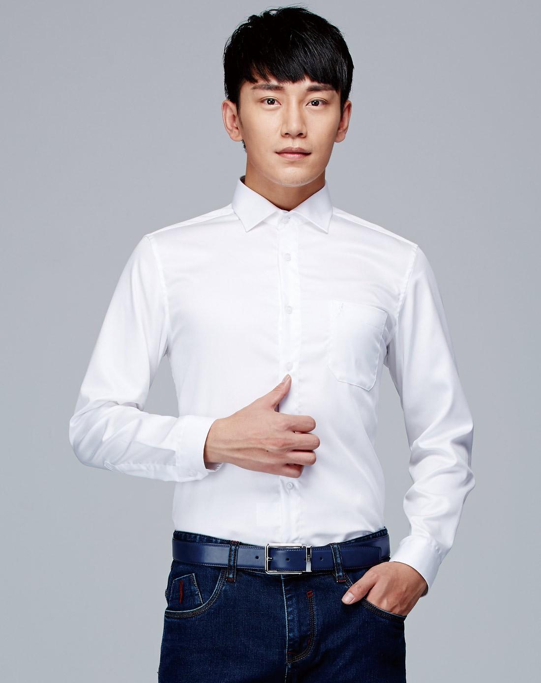 男装白色衬衫