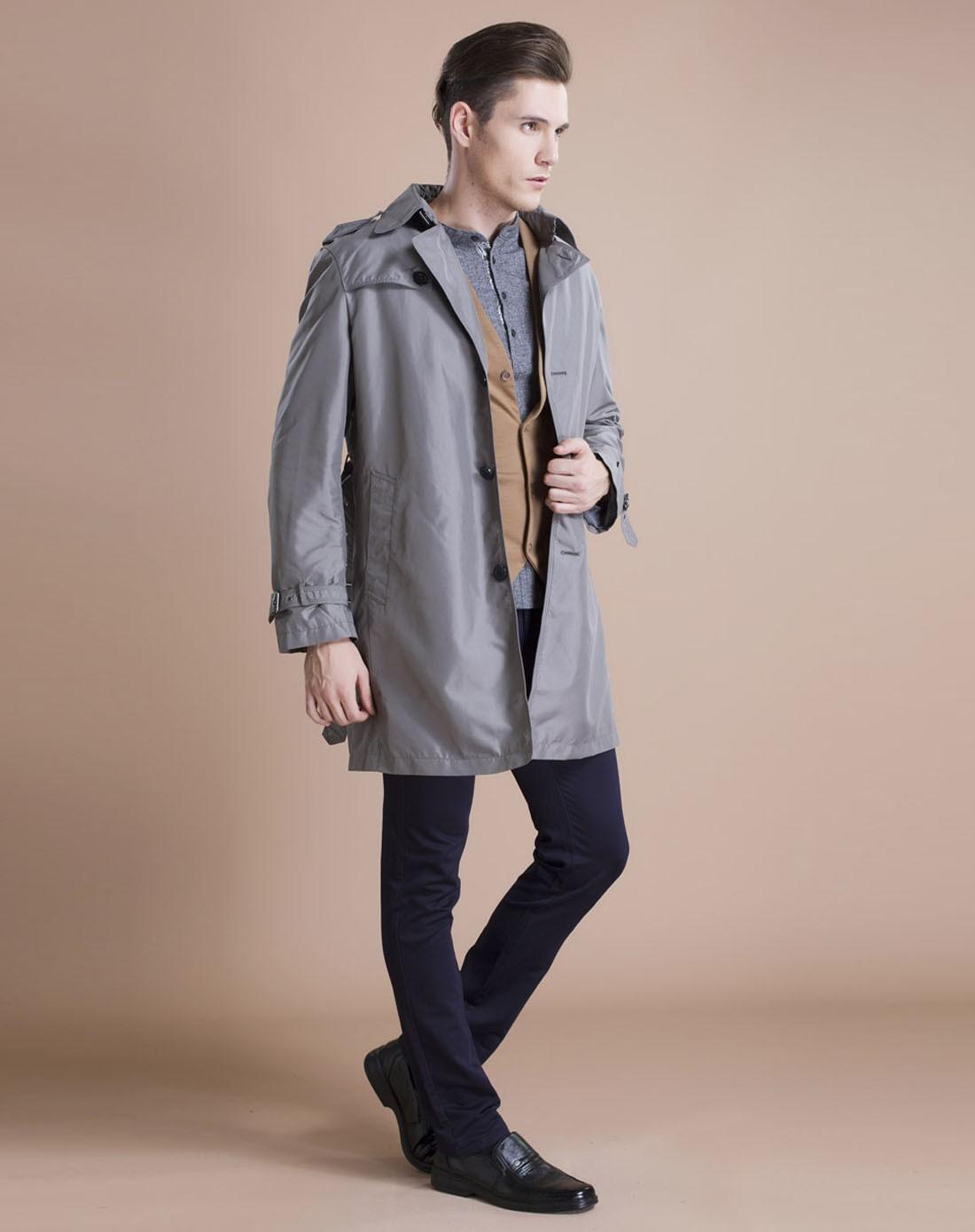 男灰色风衣g22701740