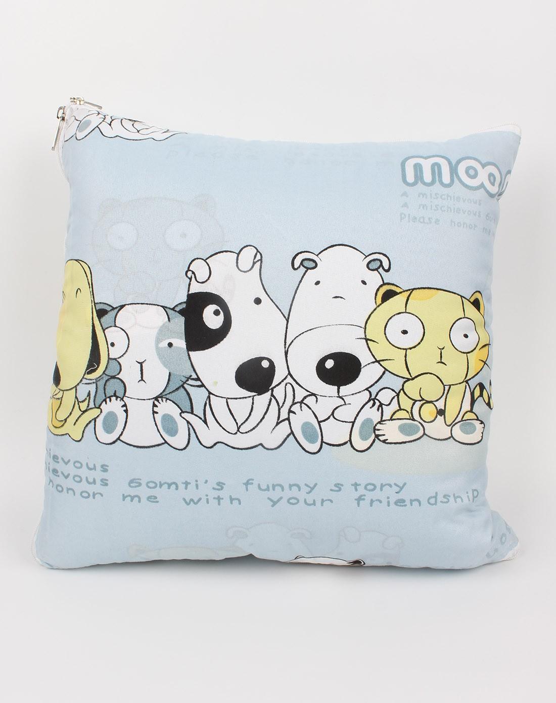 易生活liveasy家居移动专场可爱卡通狗两用抱枕被ysh