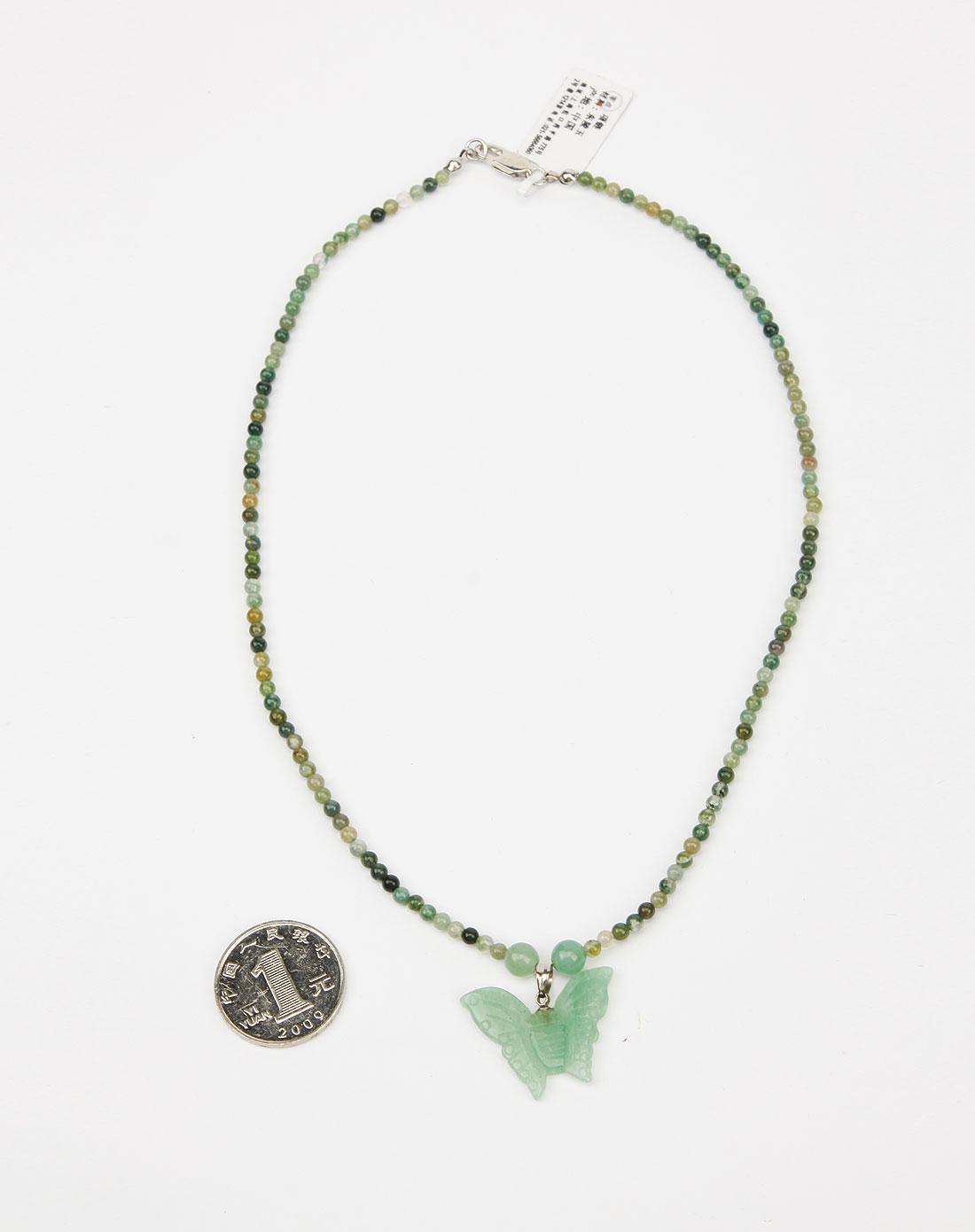 绿色东陵玉项链