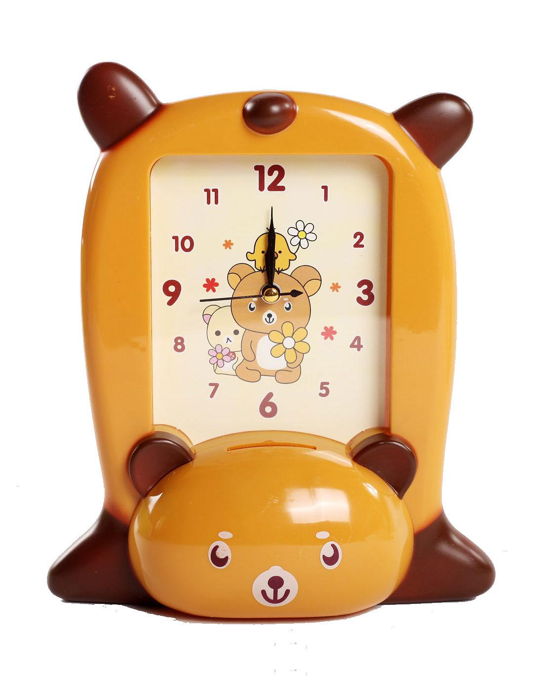 黄色小熊可爱卡通造型闹钟