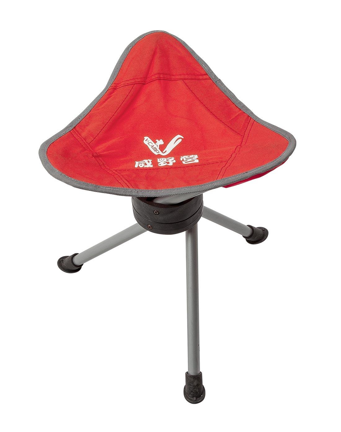 红色360度旋转钓鱼休闲三角凳