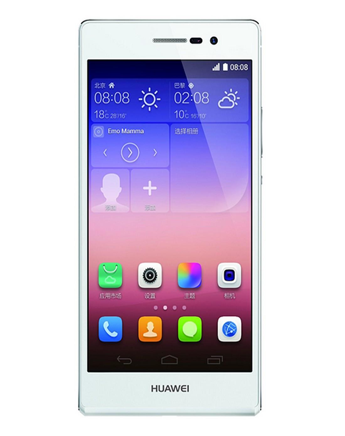 华为p7白色,电信4g手机