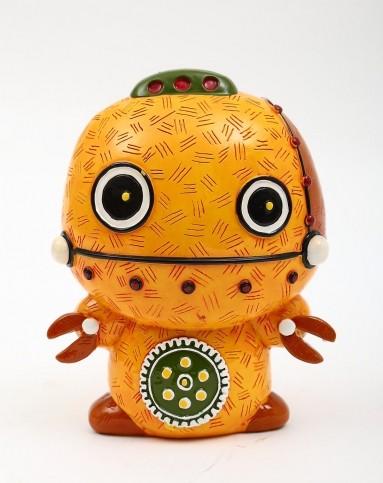 儿童房手绘树脂趣味装饰存钱罐-机器人