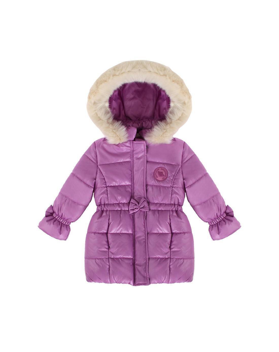 女童浅紫色可爱公主保暖加厚外套