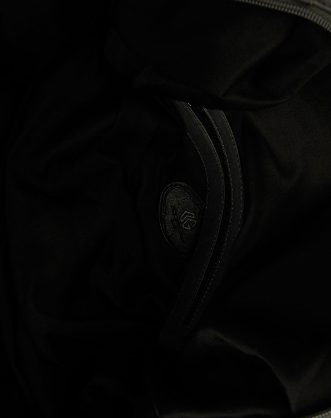 谷蔻 墨灰色暗花时尚手挽袋