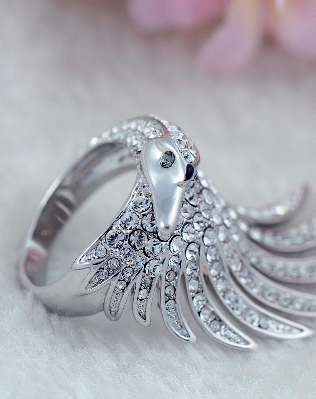 唯美知性小资天鹅公主戒指图片