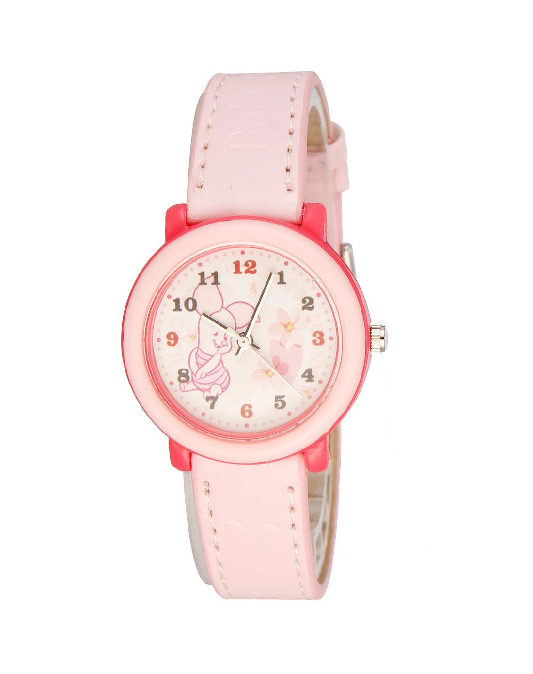 粉红色小猪儿童手表