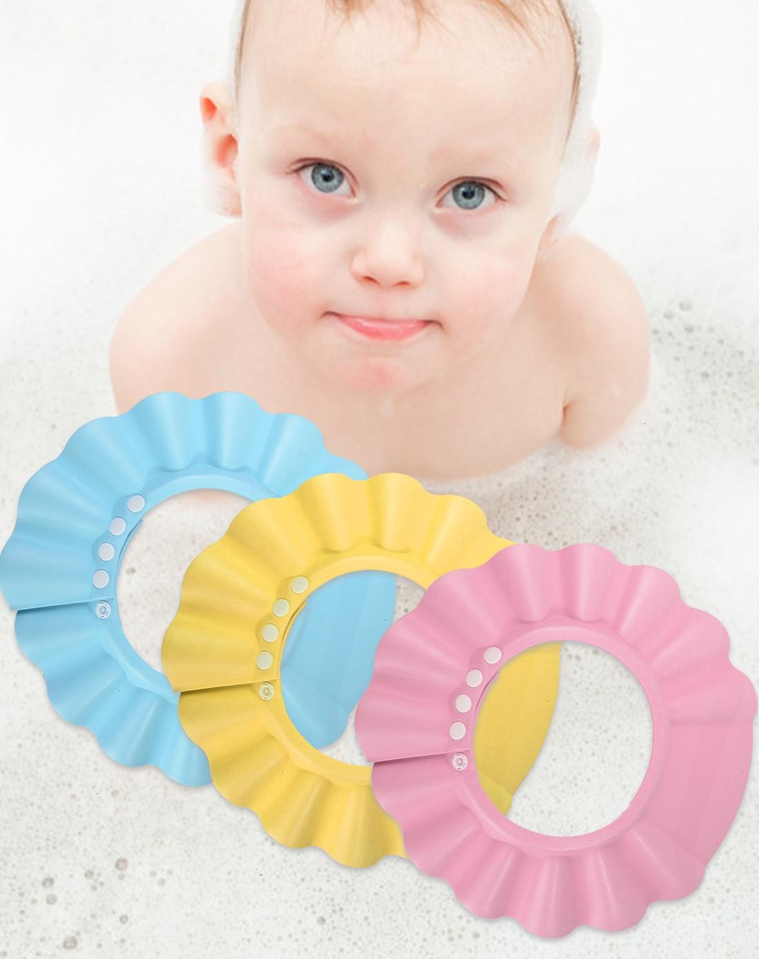 jm韩式优质多用途婴儿浴帽(混色)