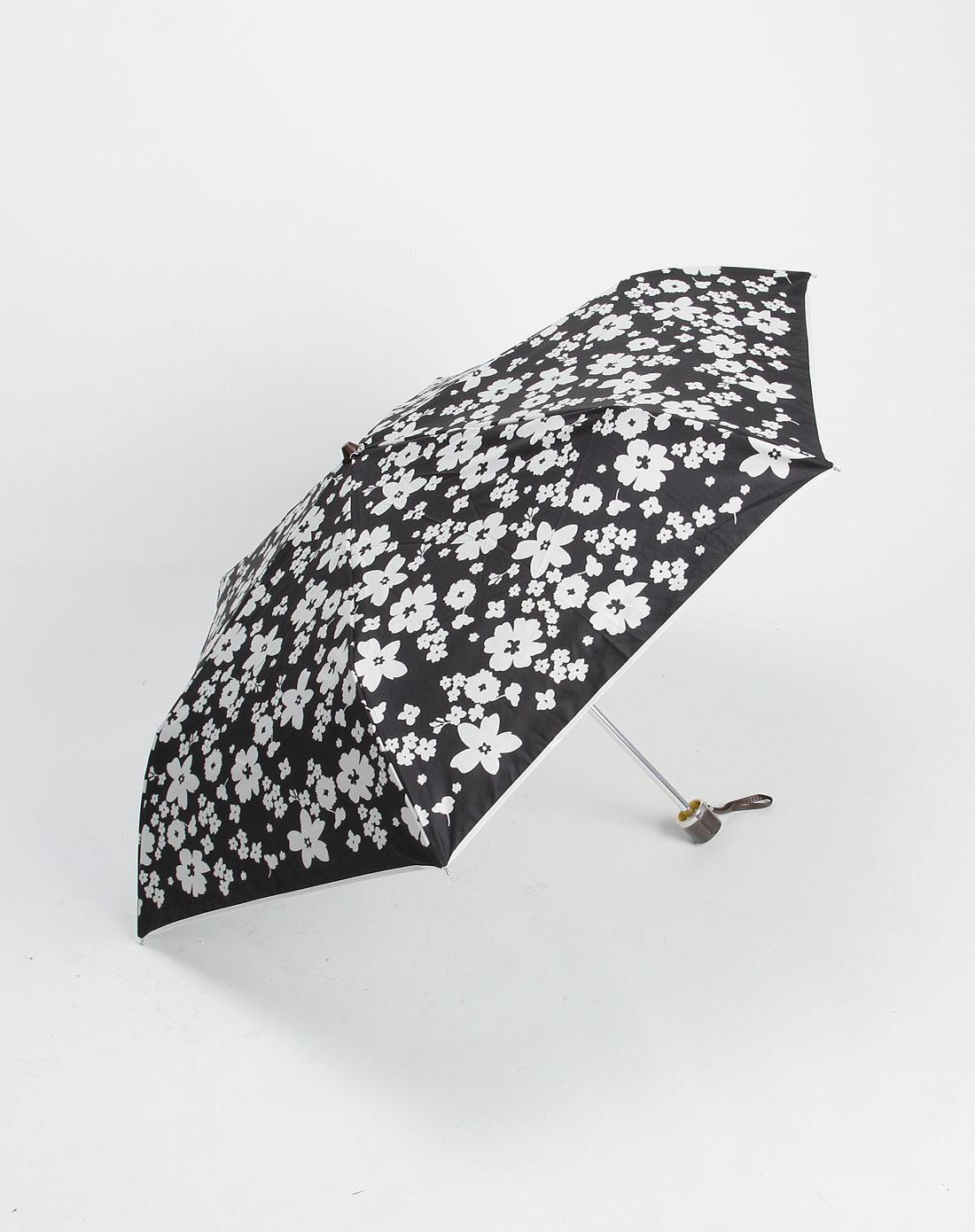 黑白色时尚印花雨伞