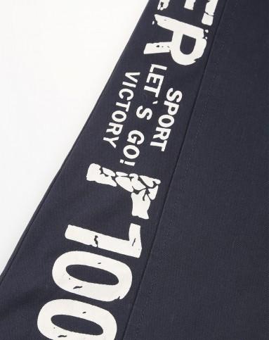叮当猫之r100系列 男童宝石蓝梭织薄里长裤