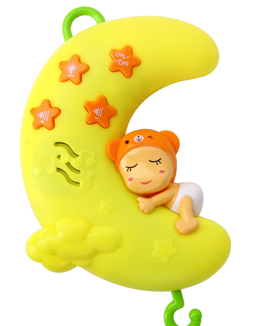 橙爱cheerbb益智玩具专场月亮宝贝音乐床铃升级版
