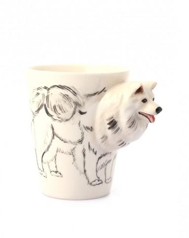 (萨摩耶)纯手绘陶瓷动物杯