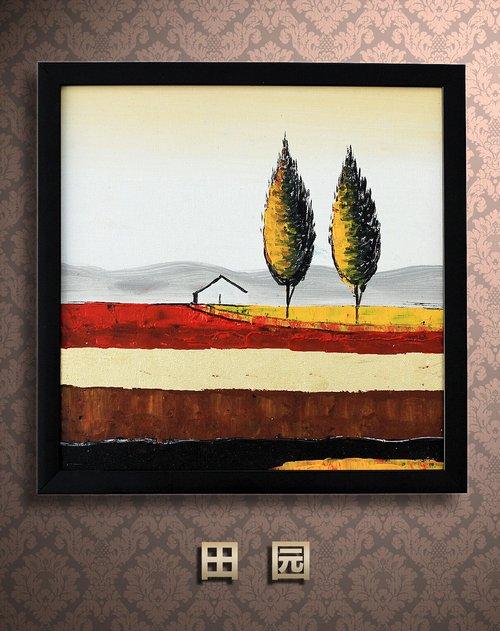 《田园》纯手绘油画价格(怎么样)