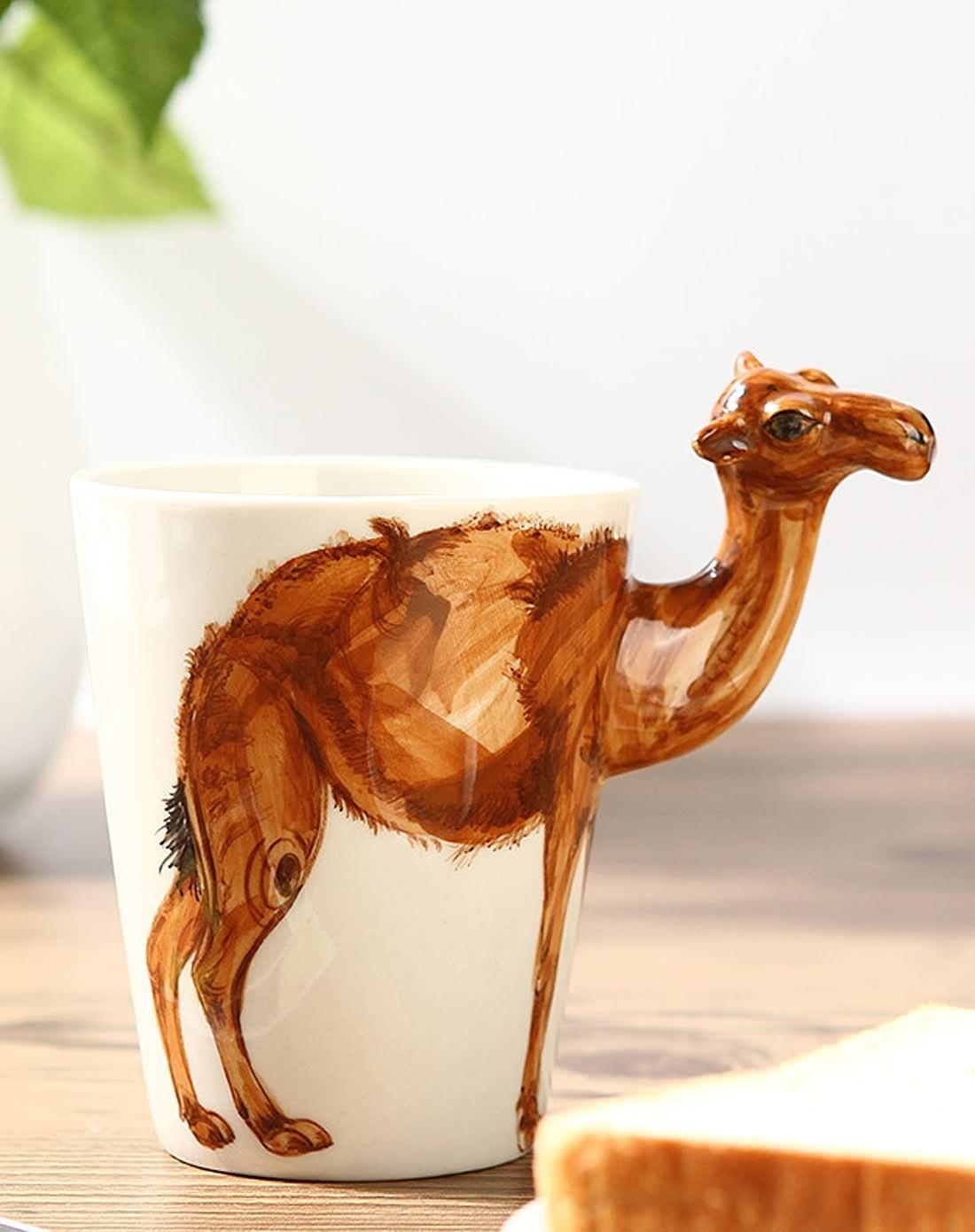 (骆驼款)3d立体纯手绘动物杯