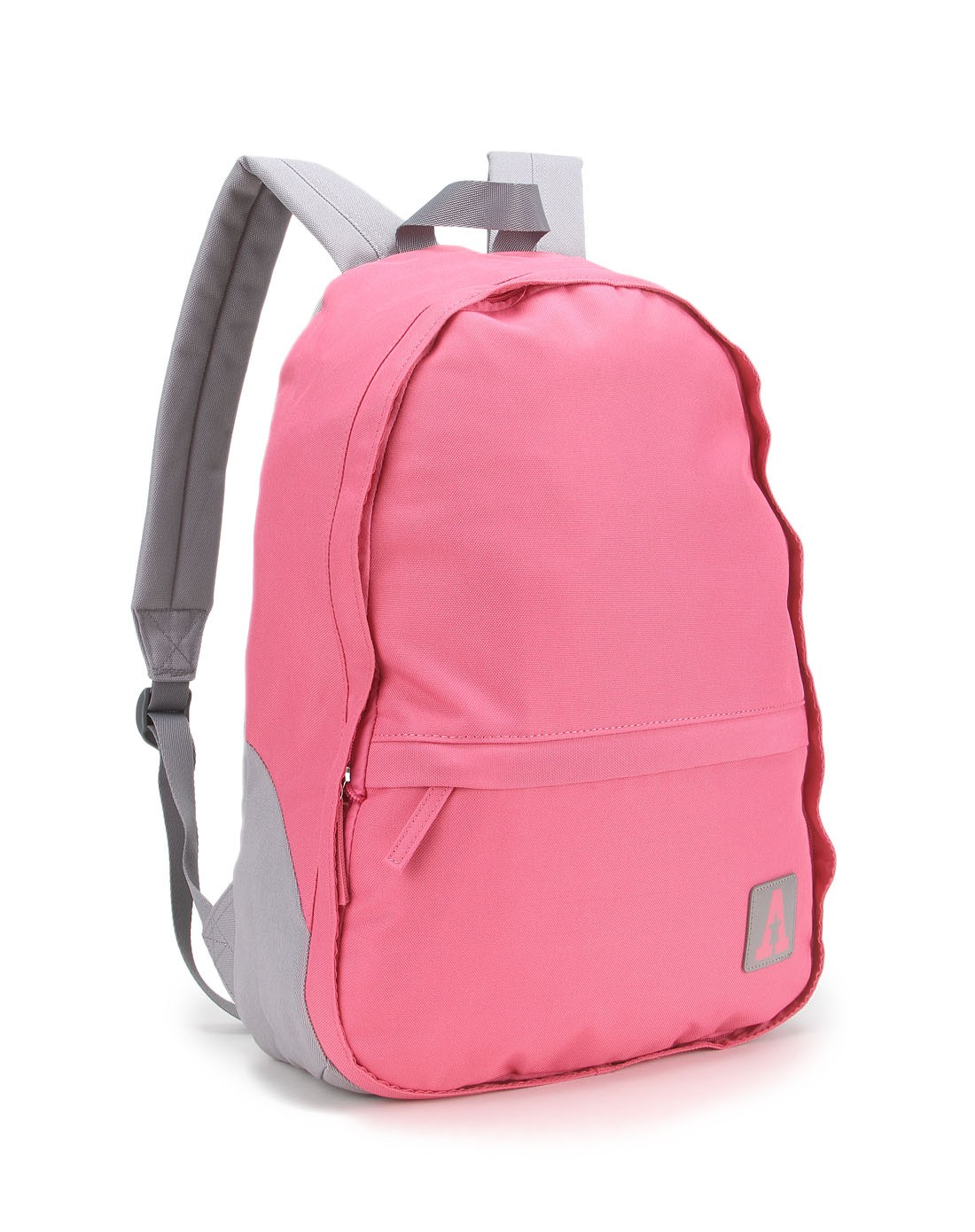 粉色双肩背包图片