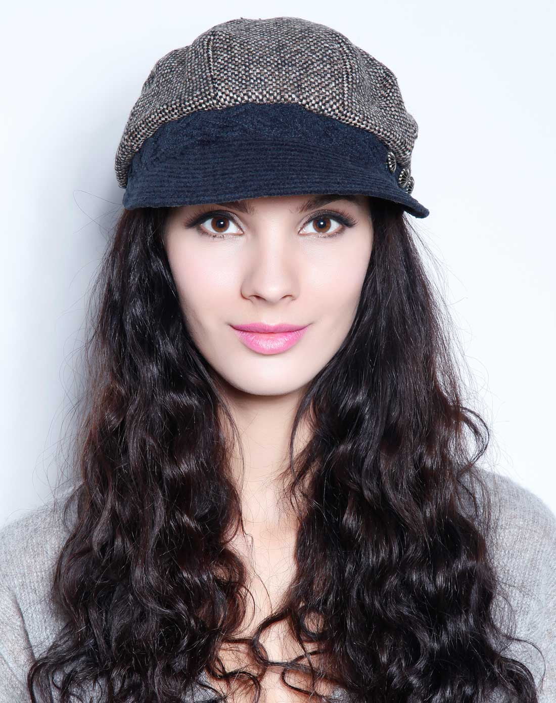 帽子专场-编织沿三钮八角帽