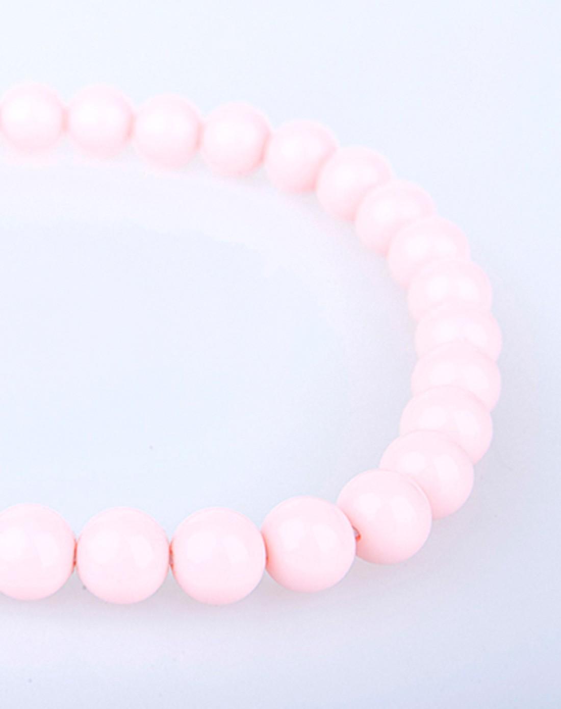 女童粉色卡通棒棒糖儿童手工串珠项链