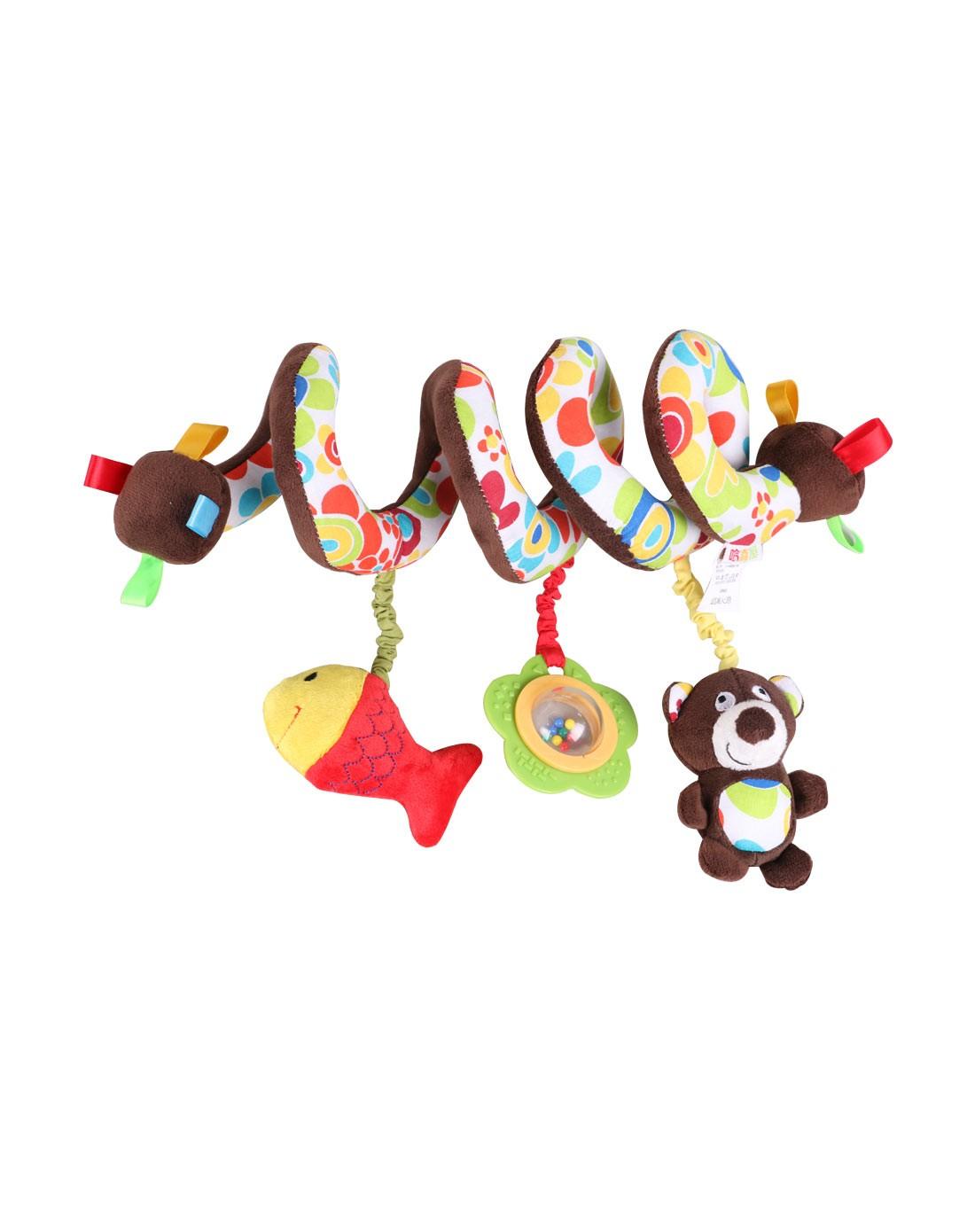 小熊螺旋吊饰