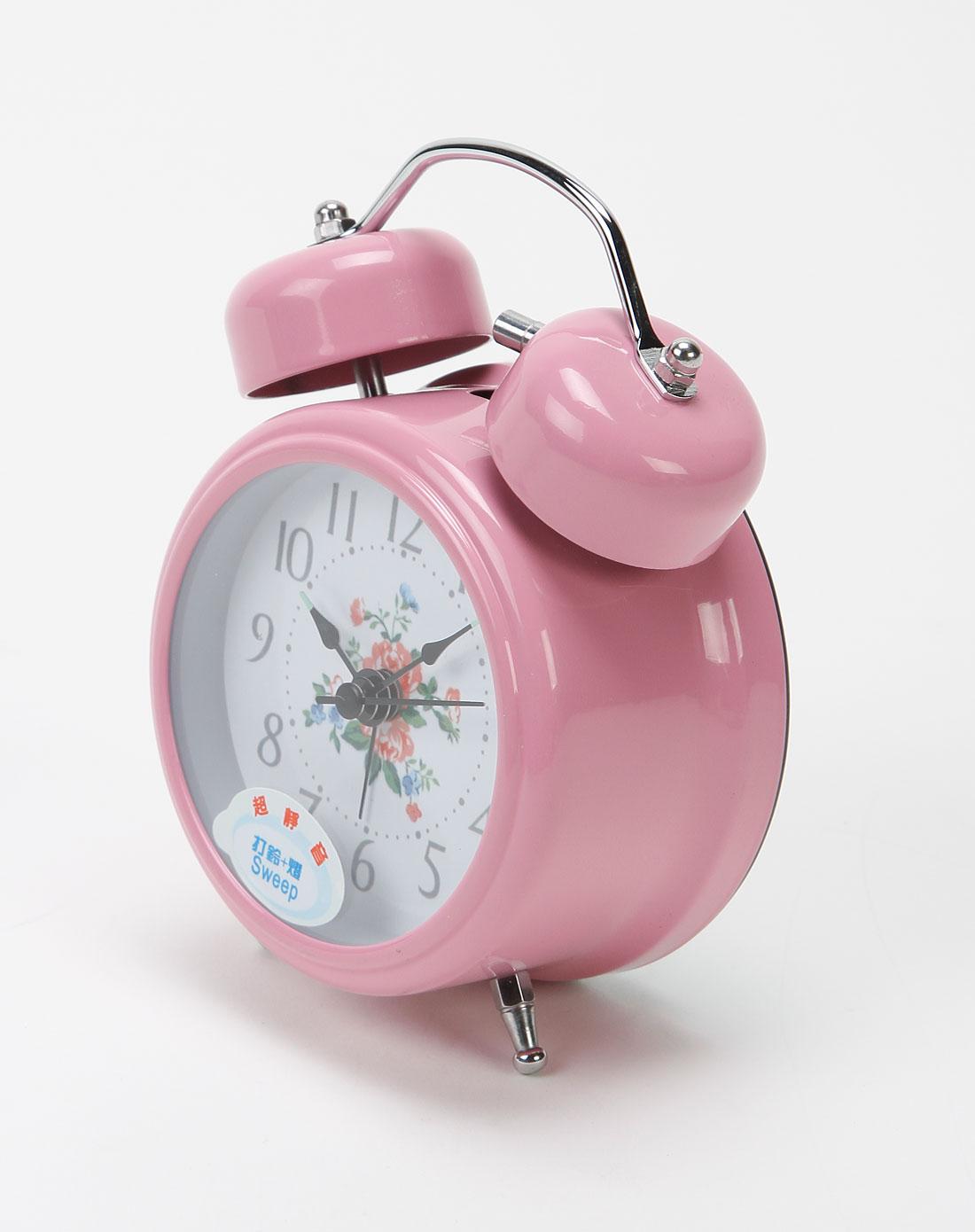 粉红色欧式静音闹钟
