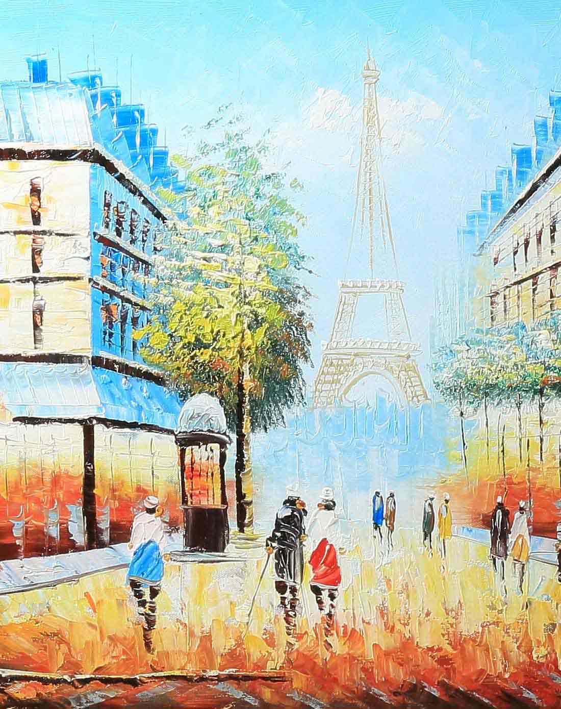 特惠经典油画风景系列-巴黎街景
