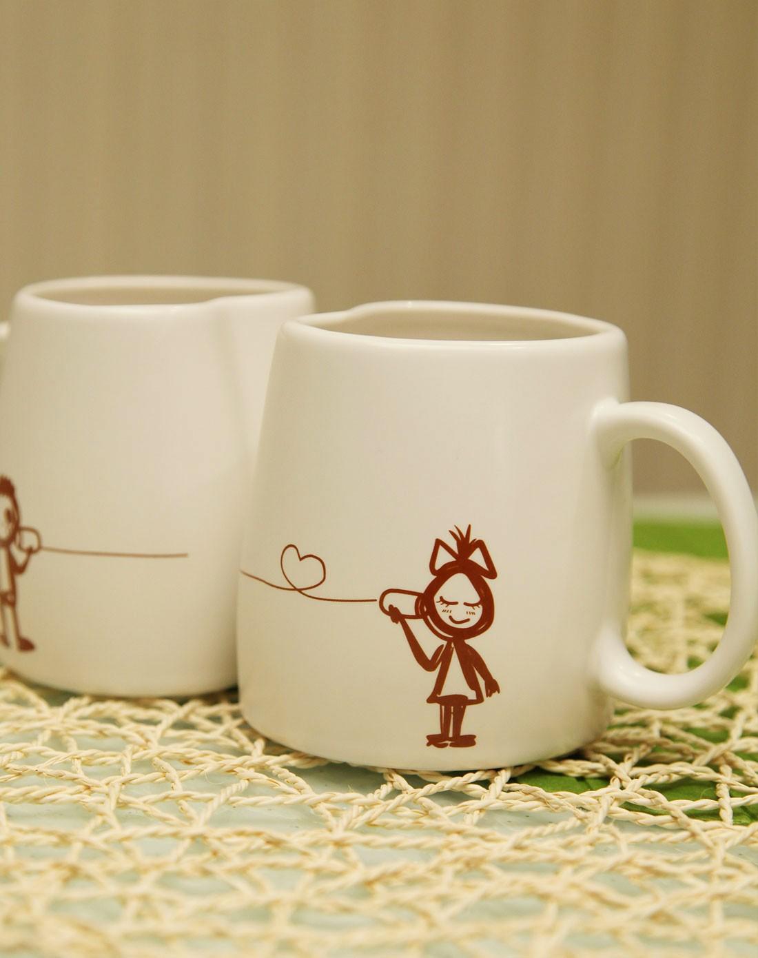 oasso创意简笔画情侣对杯图片