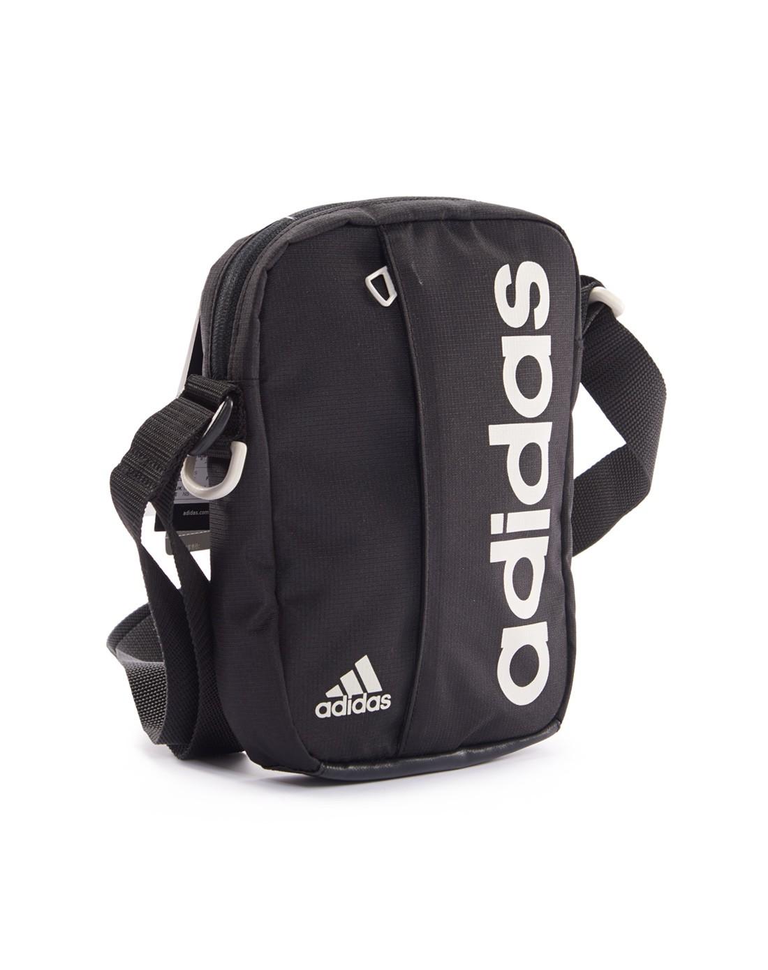 阿迪达斯adidas男士专场-中性款黑色训练系列挎包 时尚休闲