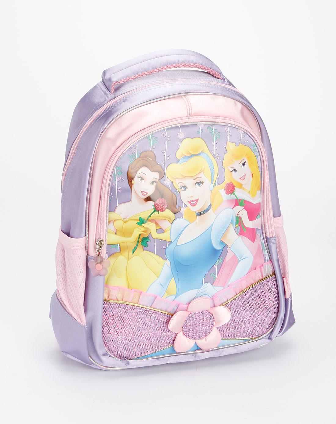 迪士尼disney儿童用品专场女童紫色公主卡通学生书包