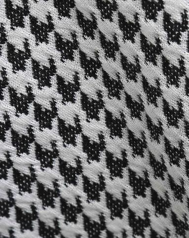 2015年新款灰白条纹拼接连衣裙