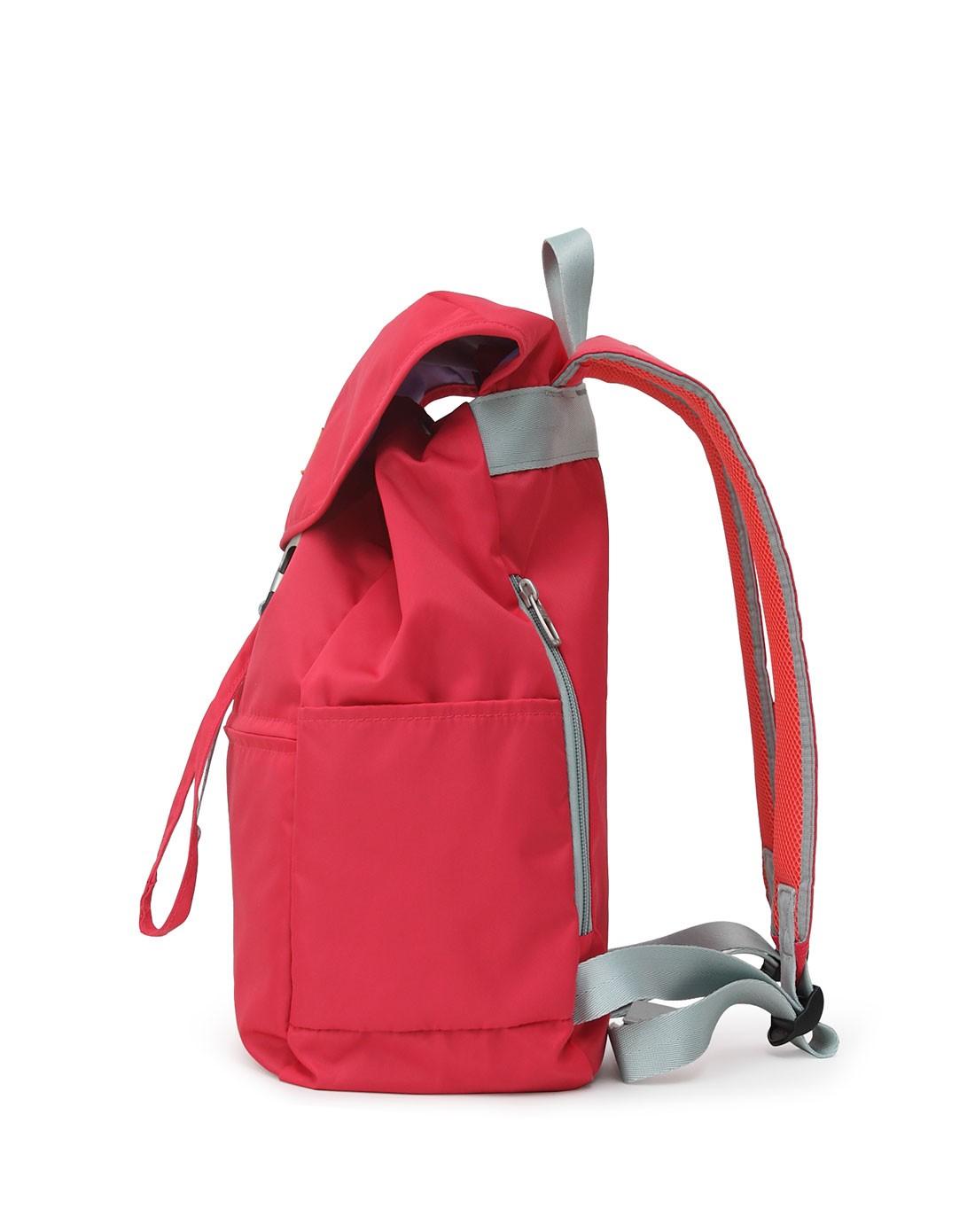 2015新款女款红色翻盖水桶双肩包