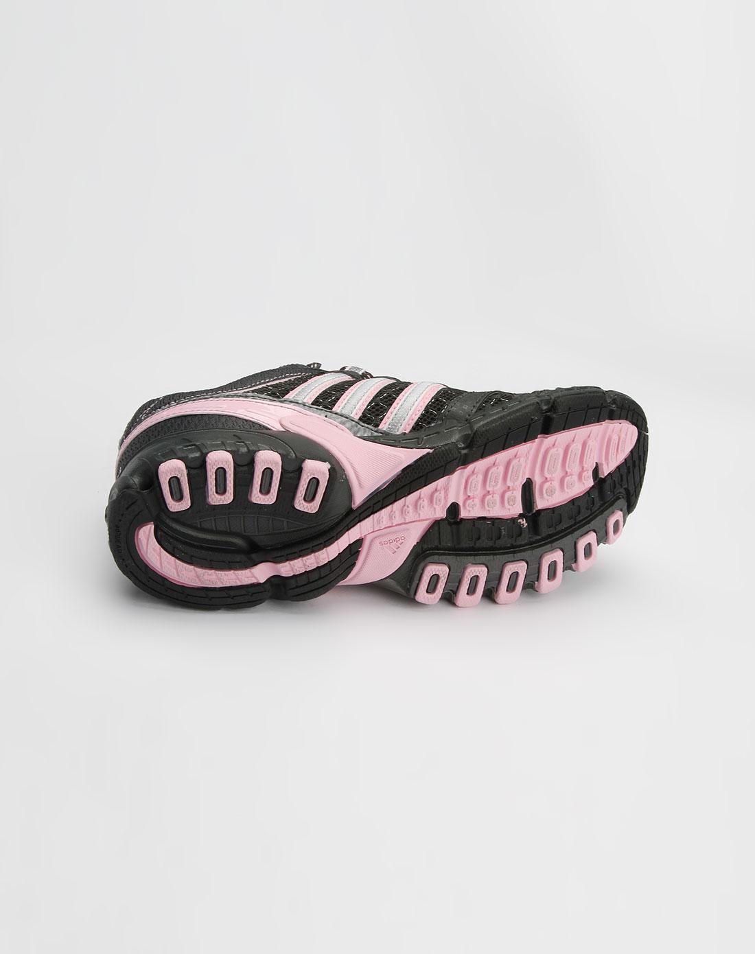 阿迪达斯adidas女款黑/粉红/银色运动鞋990708