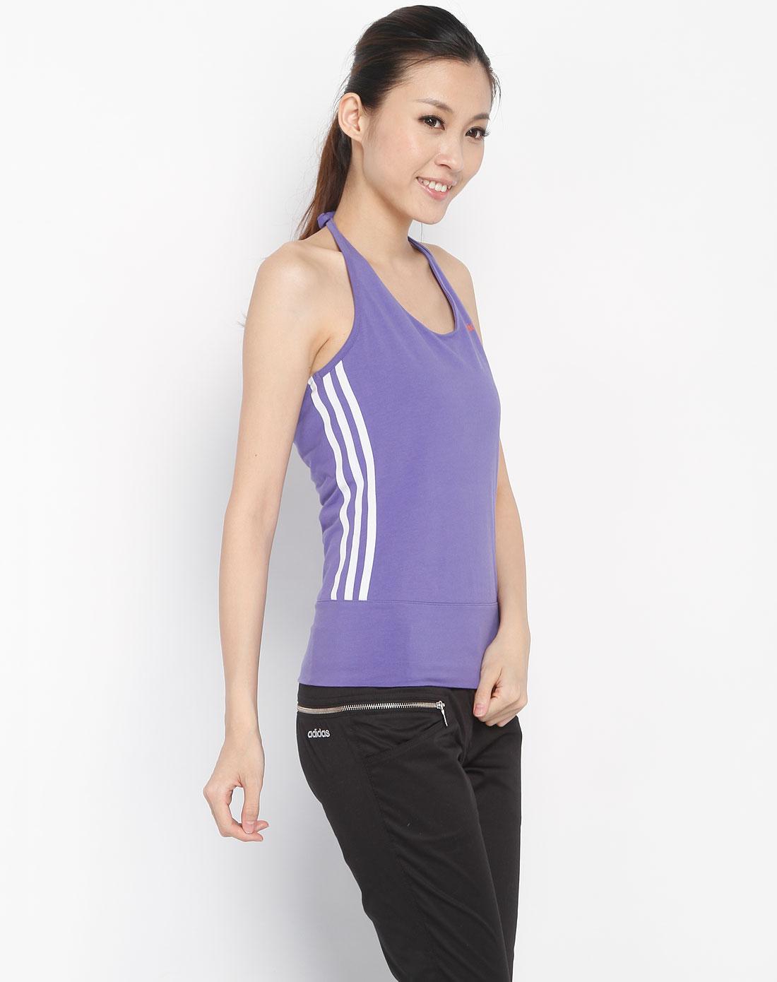 衣�:e�:d�:d�Z螊8_女款紫色条纹吊带上衣