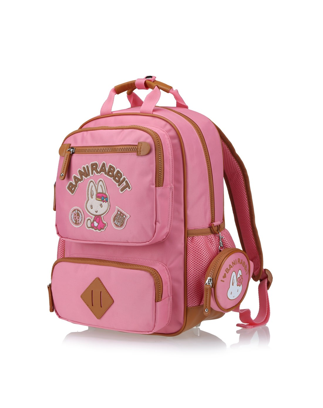 女粉红欧美版儿童背包