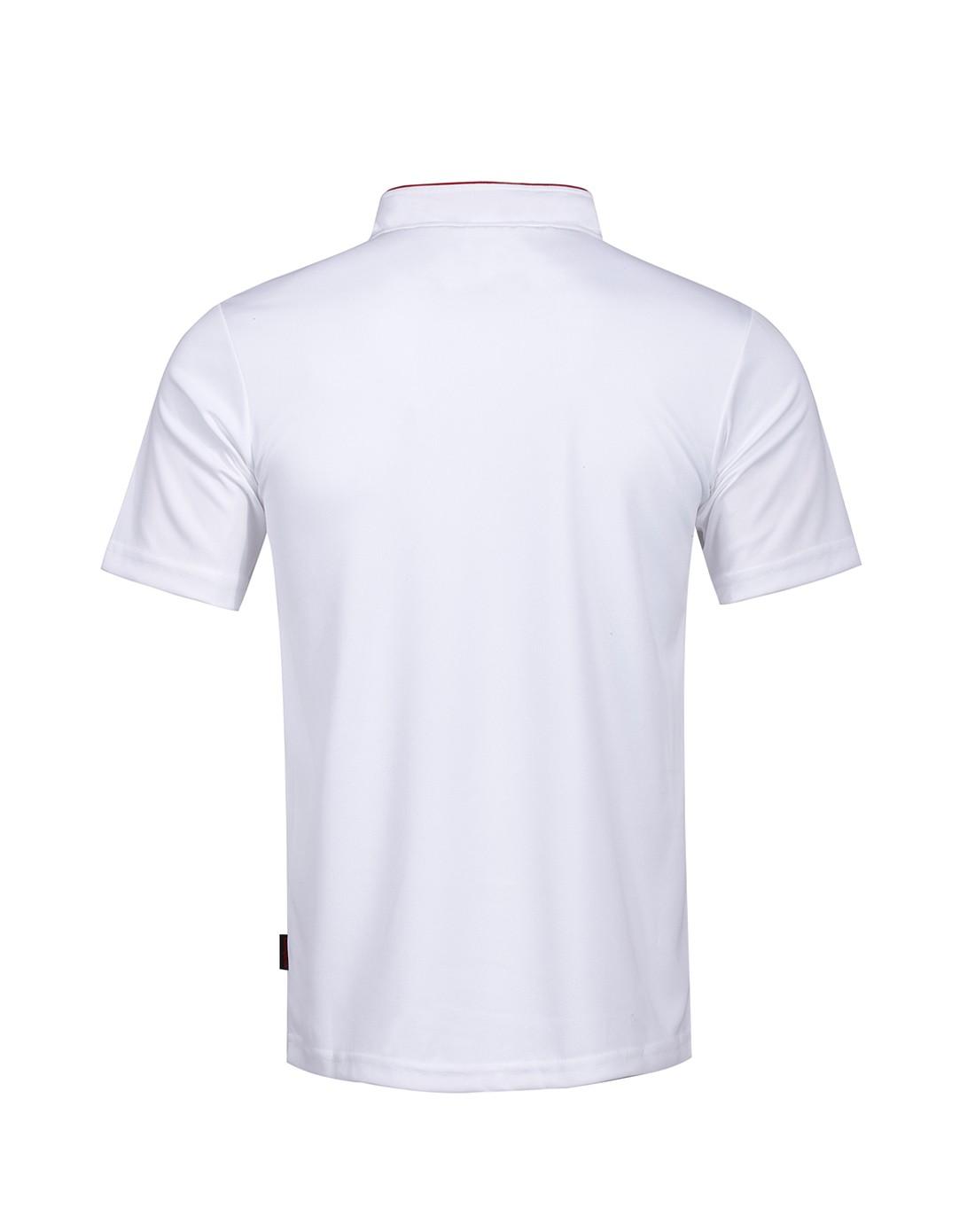 白浅灰色立领休闲短袖polo衫