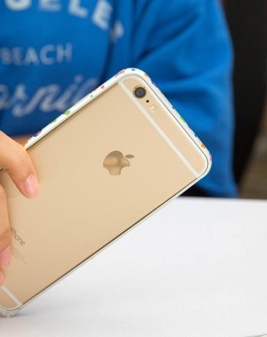 > iphone6 银色大象边框