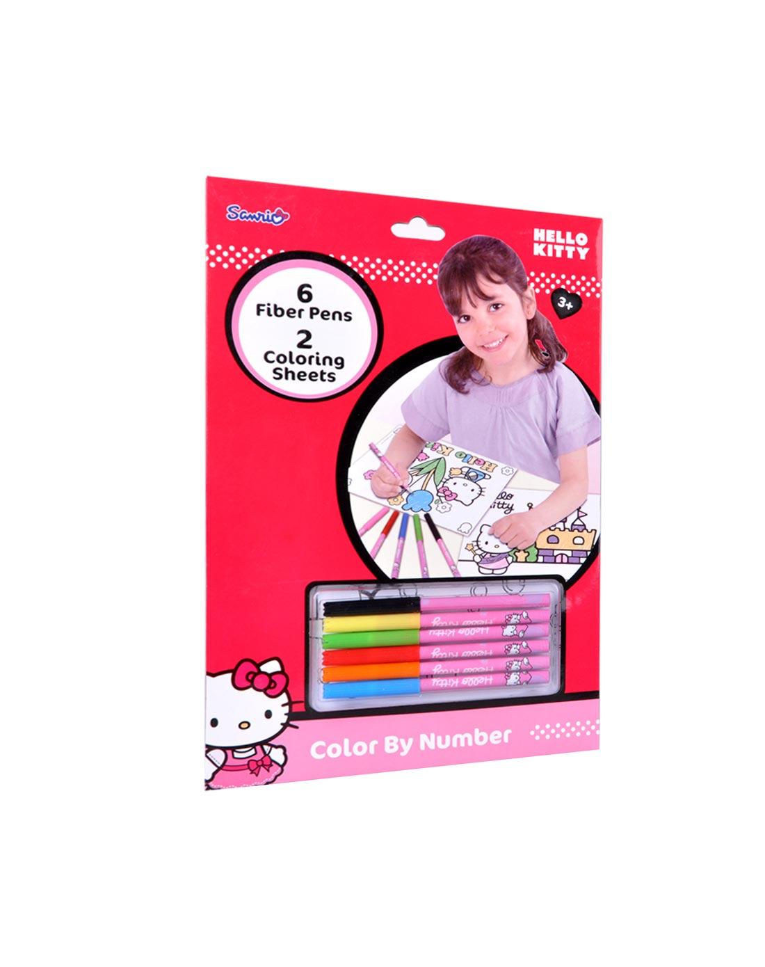 儿童彩铅彩笔填色画组合套装-粉色