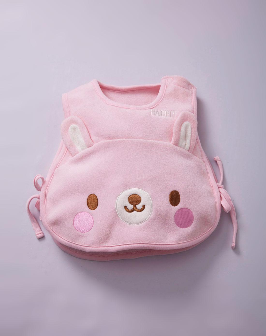 婴童粉红色可爱宝贝小兔背心