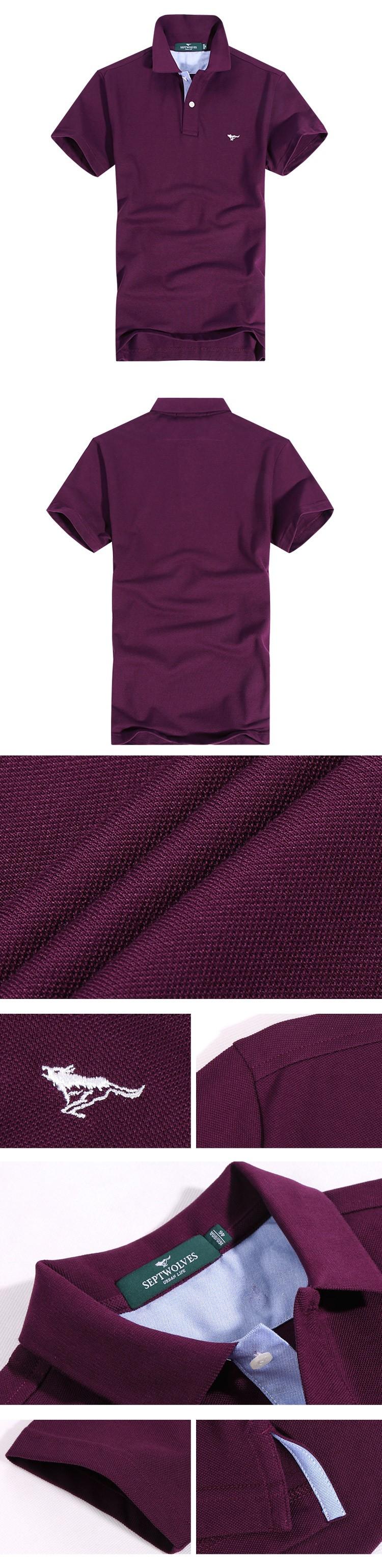 ?_絳紫色純棉多彩短袖t恤