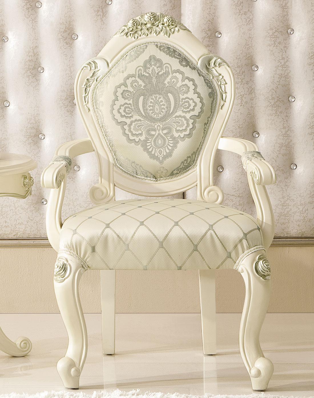 圣乔治-赫菲系列 法式书椅 欧式田园休闲布艺椅 带扶手餐椅 jh606