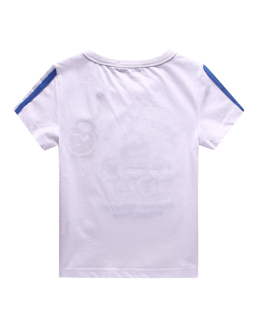 男童白色短袖儿童t恤