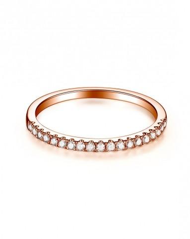 简单爱 18k10分玫瑰金钻石戒指(附国家级证书)