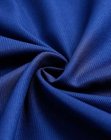 深蓝色简约经典短袖衬衫