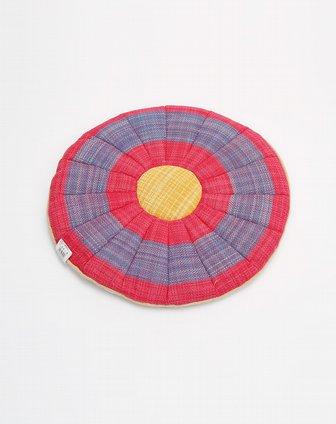 纯手工编织毛线坐垫圆形方形