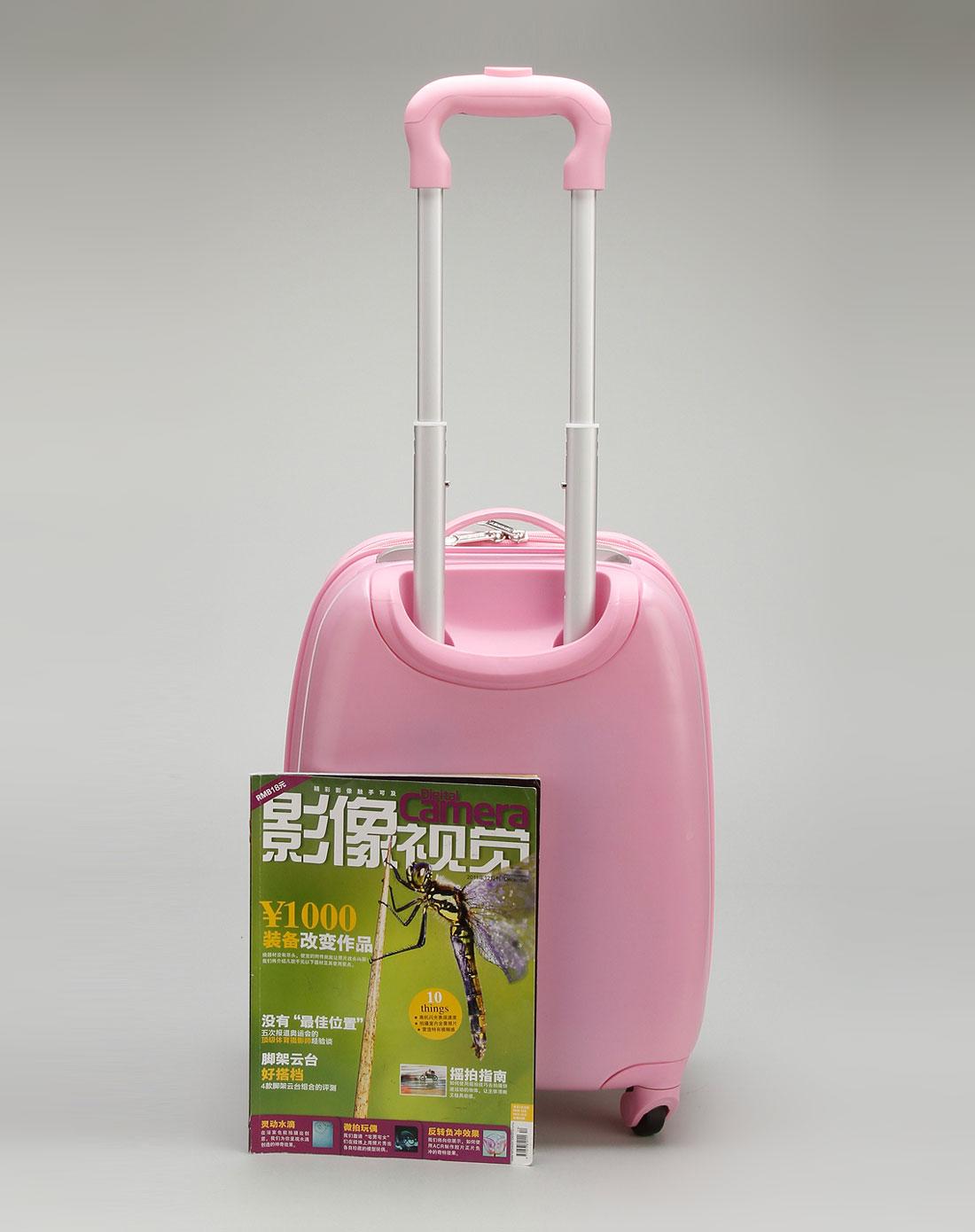 迪士尼disney儿童用品专场女童粉红色16寸蛋壳拉杆箱