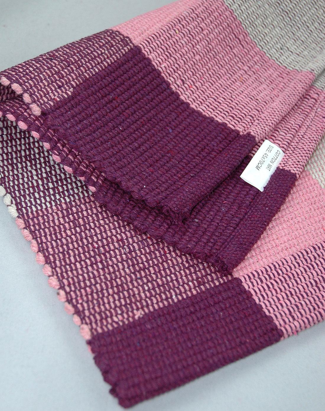 纯棉手工编织地毯脚垫40*75cm